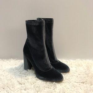 Sam Edelman Calexa Blue Velvet Sock Booties